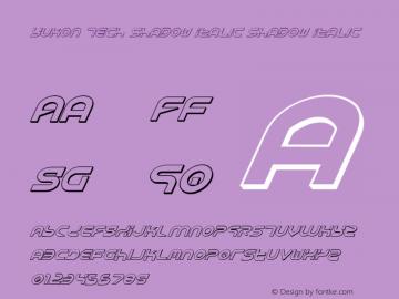 Yukon Tech Shadow Italic Shadow Italic 1 Font Sample