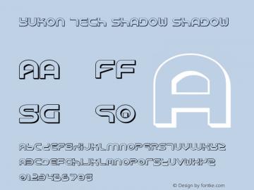 Yukon Tech Shadow Shadow 1 Font Sample