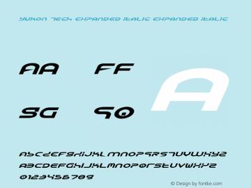 Yukon Tech Expanded Italic Expanded Italic 1图片样张
