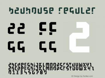 BauHouse Regular Macromedia Fontographer 4.1.3 31.12.2001 Font Sample