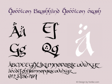 Hobbiton Brushhand Hobbiton brush 001.000 Font Sample