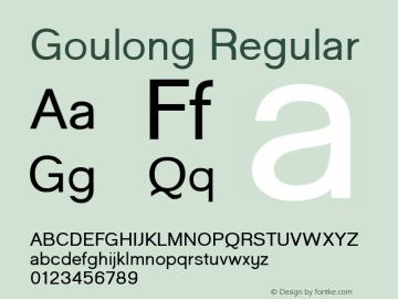 Goulong Regular 1图片样张