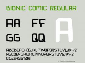 Bionic Comic Regular 1图片样张
