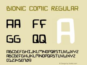 Bionic Comic Regular 2图片样张