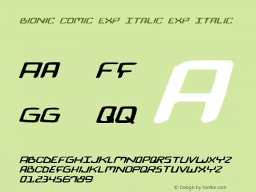 Bionic Comic Exp Italic Exp Italic 1图片样张