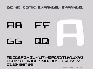 Bionic Comic Expanded Expanded 1 Font Sample