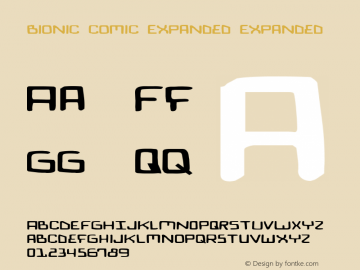 Bionic Comic Expanded Expanded 2 Font Sample