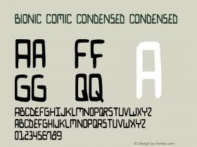 Bionic Comic Condensed Condensed 1图片样张