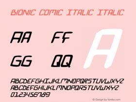 Bionic Comic Italic Italic 2图片样张