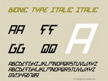 Bionic Type Italic Italic 1图片样张