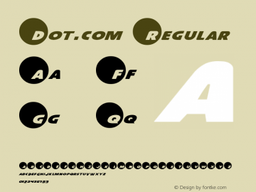 Dot.com Regular 1图片样张