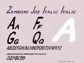 Zamboni Joe Italic Italic 1图片样张