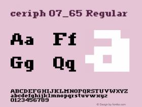 ceriph 07_65 Regular Macromedia Fontographer 4.1.4 12/31/01图片样张