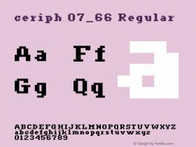 ceriph 07_66 Regular Macromedia Fontographer 4.1.4 12/31/01图片样张