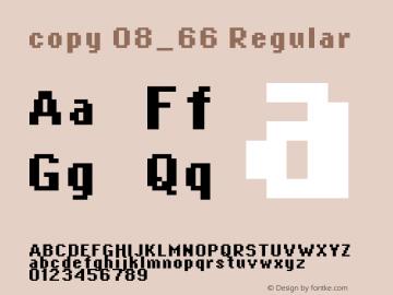 copy 08_66 Regular Macromedia Fontographer 4.1.4 12/31/01 Font Sample