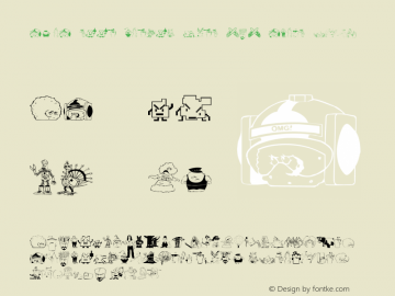 aqua teen hunger font (c) adult swim v7.6 (( xero harrison - http://fontvir.us ))图片样张