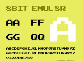 8bit emul8r (c) 1997 - MMVII xero.harrison (fontvir.us)图片样张