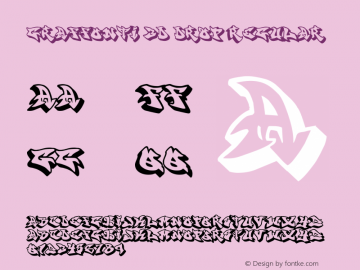 graffonti.3d.drop Regular Version 2.700;PS 001.001;hotconv 1.0.38 Font Sample