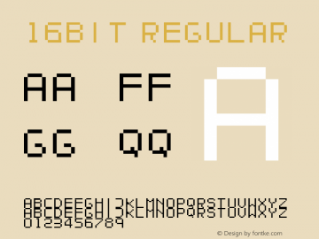 16bit Regular fontvir.us Font Sample