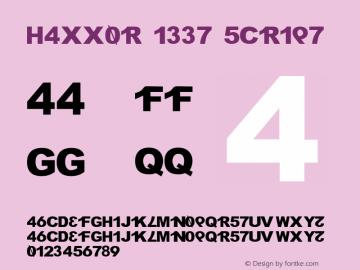 H4XX0R 1337 5CR1P7 v2 (( xero.harrison / http://fontvir.us )) Font Sample