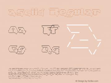 asciid Regular v 2.0 ((xero harrison - http://fontvir.us))图片样张