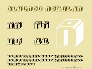 Blocked Regular Macromedia Fontographer 4.1.3 1/1/04 Font Sample