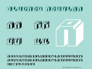 Blocked Regular Macromedia Fontographer 4.1.3 2/26/05 Font Sample