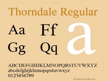 Thorndale Regular Version 1.00 Font Sample