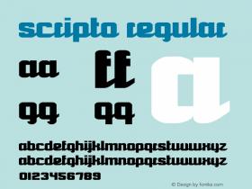 Scripto Regular Version 1.00图片样张