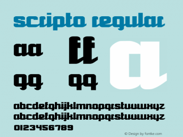 Scripto Regular Version 1.00 Font Sample