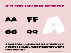 #44 Font Expanded Expanded 001.000图片样张