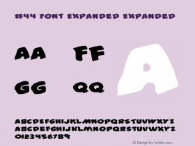 #44 Font Expanded Expanded 2图片样张