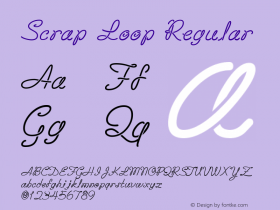 Scrap Loop Regular 10/26/1999 Font Sample