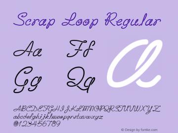 Scrap Loop Regular 10/26/1999 Font Sample