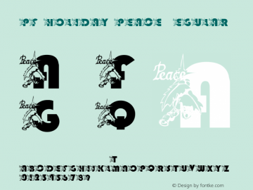 pf_holiday_peace Regular 2001; 1.0, initial release Font Sample