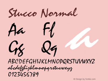 Stucco Normal Altsys Fontographer 4.1 11/14/95 Font Sample