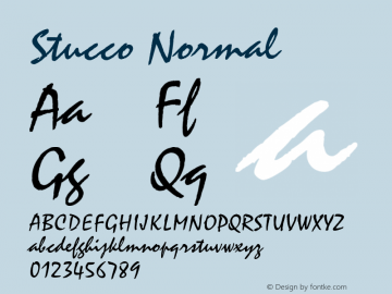 Stucco Normal Altsys Fontographer 4.1 6/19/96 Font Sample