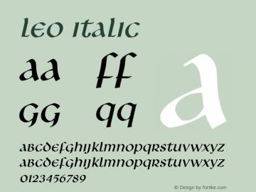 Leo Italic Altsys Fontographer 4.1 1/8/95 Font Sample