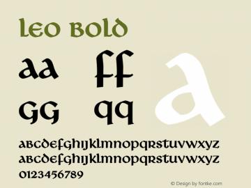Leo Bold Altsys Fontographer 4.1 1/8/95 Font Sample