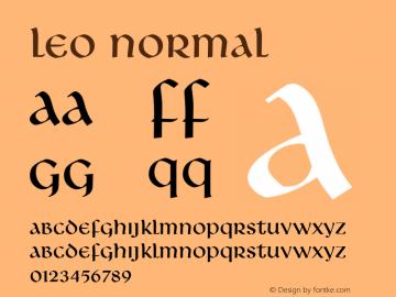 Leo Normal Altsys Fontographer 4.1 1/8/95 Font Sample