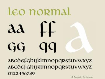 Leo Normal Altsys Fontographer 4.1 5/10/96 Font Sample