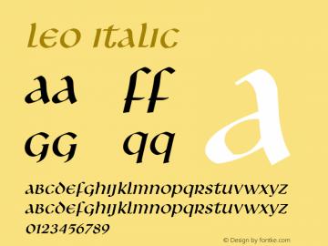 Leo Italic Altsys Fontographer 4.1 5/10/96 Font Sample