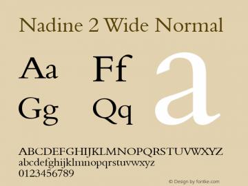 Nadine 2 Wide Normal Altsys Fontographer 4.1 1/9/95 Font Sample
