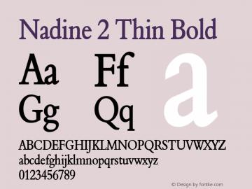 Nadine 2 Thin Bold Altsys Fontographer 4.1 1/9/95 Font Sample