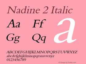 Nadine 2 Italic Altsys Fontographer 4.1 1/9/95 Font Sample