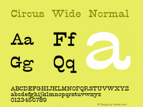 Circus Wide Normal Altsys Fontographer 4.1 12/5/94 Font Sample