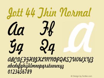 Jott 44 Thin Normal 1.0 Wed Jul 28 17:22:49 1993 Font Sample