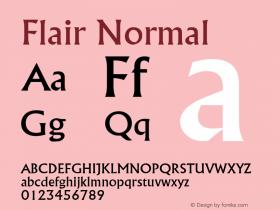 Flair Normal Altsys Fontographer 4.1 2/1/95 Font Sample