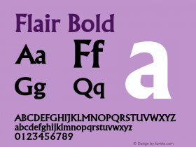 Flair Bold Altsys Fontographer 4.1 5/8/96 Font Sample