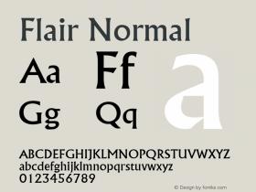 Flair Normal Altsys Fontographer 4.1 5/8/96 Font Sample